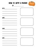 How to Carve a Pumpkin Writing Sheet