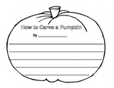 How to Carve a Pumpkin Writing Templates
