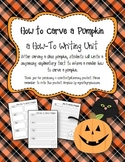How to Carve a Pumpkin Writing Unit
