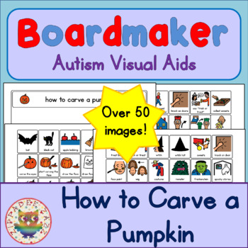 How to Carve a Pumpkin and Trick or Treat Routine - Visual Aids for Autism