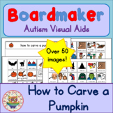 How to Carve a Pumpkin and Trick or Treat Routine - Visual Aids for Autism SPED