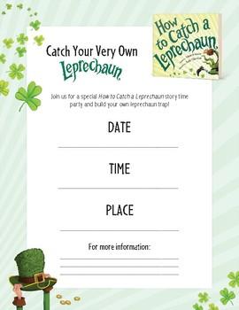 How to Catch a Leprechaun Activity Kit