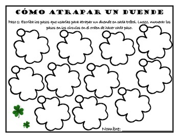 St. Patty's Day Bilingual Writing Activity-How to Catch a Leprechaun