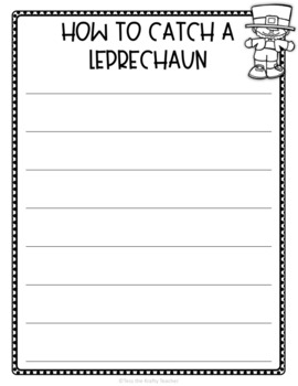 How to Catch a Leprechaun - Book and STEM Activity for March