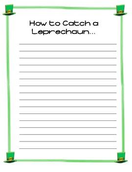 How to Catch a Leprechaun ~Saint Patrick's Day Creative Writing