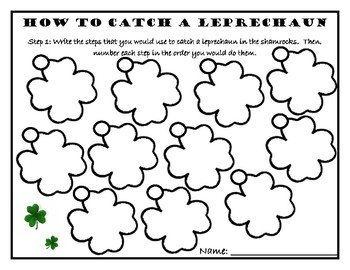 St. Patty's Day English Writing Activity-How to Catch a Leprechaun