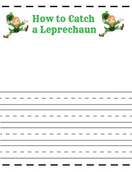 How to Catch a Leprechaun - St. Patrick's Day - Leprechaun Printable