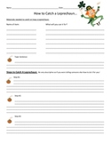 How to Catch a Leprechaun Writing Activity - Graphic Organizer