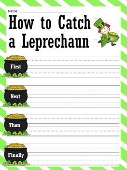 How to Catch a Leprechaun Writing Prompt and Leprechaun Footprint Paper