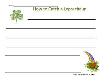 How to Catch a Leprechaun Writing Template