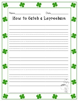 How to Catch a Leprechaun Writing pages