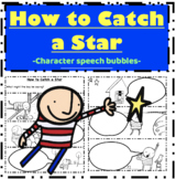 How to Catch a Star Oliver Jeffers Writing: Character Speech Bubbles
