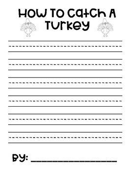 How to Catch a Turkey Writing Paper