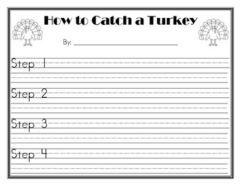 How To Catch A Turkey Writing Prompt By Miss Coppolas Creations