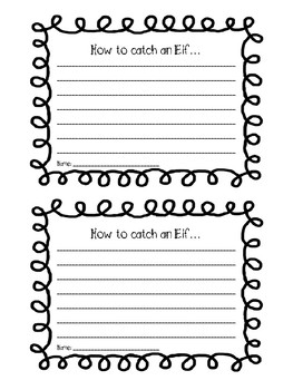 How to Catch an Elf Craftivity