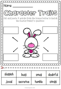 How to Catch the Easter Bunny - Character Traits Activities
