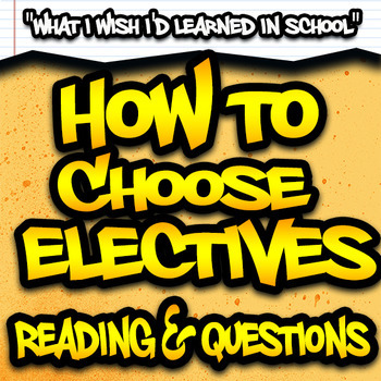 How to Choose Electives Reading & Questions - High School SPED