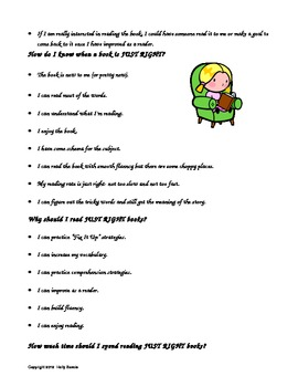 How to Choose a Just Right Book- Goldilocks