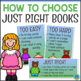 How to Choose a Just Right Book Posters & Bookmarks
