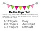 How to Choose a Just Right Book and Five Finger Test Poster