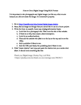 How to Cite Digital Images