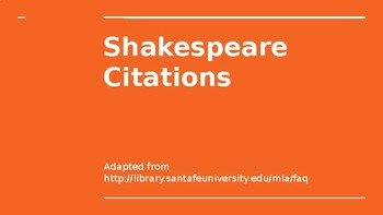 How to Cite Shakespeare