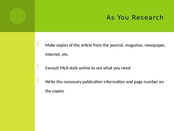 How to Cite Sources PowerPoint Lesson