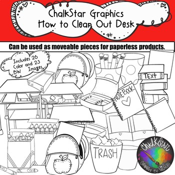 How to Clean Out Your Desk Clip Art