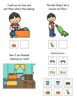 How to Clean Your Bedroom: A Social Story Adapted Book for Special Education