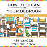 How to Clean Your Bedroom Daily Routines Clip Art