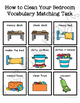 How to Clean Your Bedroom Vocabulary Folder Game for Students with Autism