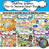 How to Clip Art Seasonal Edition Growing Bundle- Chalkstar Graphics