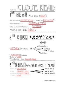 How to Close Read - Skeleton Notes