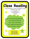 Common Core Close Reading Texts: A Unit of Study