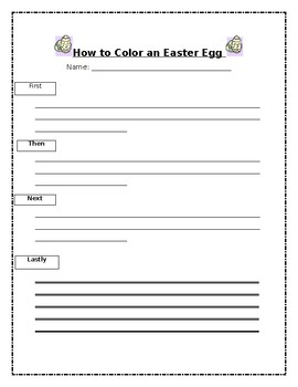 How to Color an Easter Egg Sequencing activity