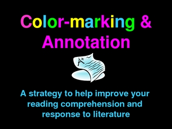 How to Colormark and Annotate a Piece of Writing - PPT