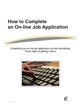 How to Complete and Online Job Application