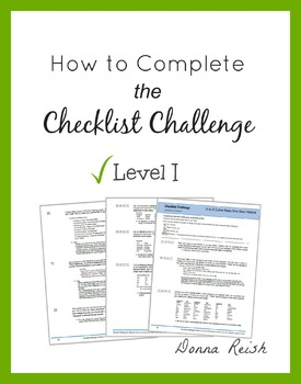 How to Complete the Checklist Challenge - Level I