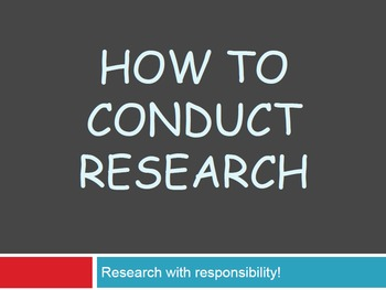 How to Conduct Research at the Elementary Level - Slideshow