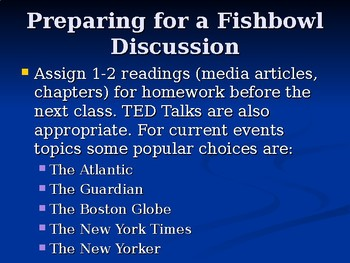 How to Conduct a Fishbowl Discussion: A Learner Training  Presentation