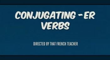 How to Conjugate -Er Verbs Stop Motion Video