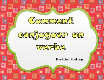 How to Conjugate a Verb poster cards