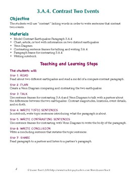 How to Contrast Two Events in Speaking and Writing  (ReadyGen 3.A.4)