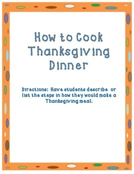 How to Cook A Thanksgiving Meal