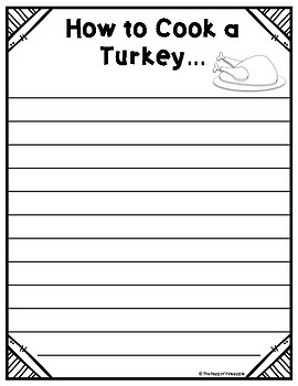 How to Cook A Turkey FREEBIE