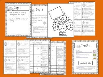 Thanksgiving Writing Activity:  How to Cook a Turkey Writing Project and Craft