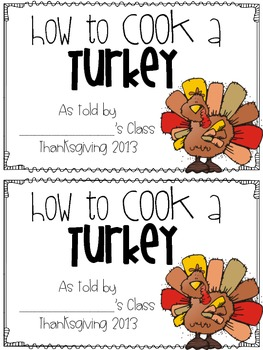 How to Cook a Turkey Class Book