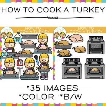 How to Cook a Turkey Clip Art: Sequencing and Thanksgiving Clip Art