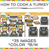How to Cook a Turkey Clip Art { Sequencing and Thanksgiving Clip Art }
