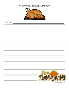 How to Cook a Turkey Writing